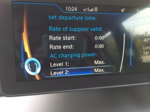 2014 BMW i3 Power level controls