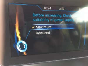 2014 BMW i3 Power level setting