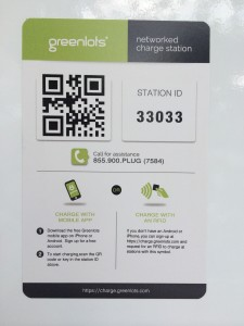 Greenlots invitation to pay by app of RFID