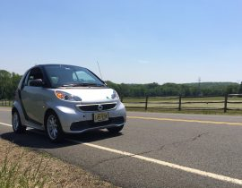 ElectraGirl 2015 Smart Electric Drive in country